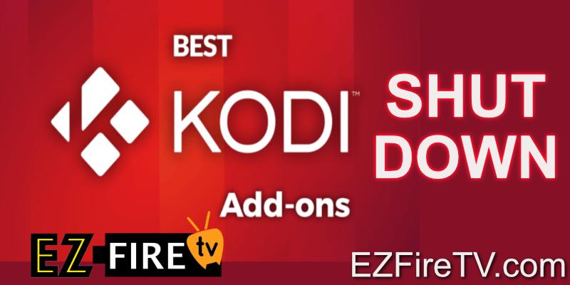 Kodi Addons shutdown