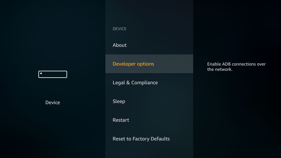 FireStick Settings Screen 2
